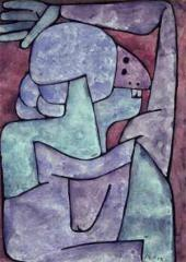 Paul KLEE. Woman Cursing. 1939, 913