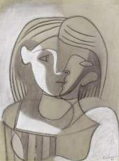 Pablo Picasso. Head of a Woman (Marie-Thérèse) Frontal and in Profile. 1926