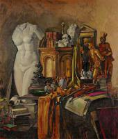 Still-life in Golden Colours with the Attributes of Art. 1943