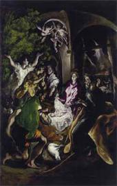 EL GRECO. The Adoration of the Shepherds. c. 1610