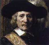 REMBRANDT. Harmenszoon van Rijn. The Standard Bearer (Floris Soop). 1654. Detail