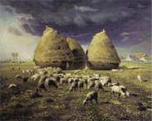Jean-Francois MILLET. Haystacks: Autumn. c. 1874