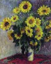 Claude MONET. Bouquet of Sunflowers. 1881