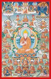 Rime Thangka Series. Gelug School Je Tsongkhapa.