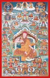 Rime Thangka Series. Sakya School Sakya Pandita Kunga Gyaltsen.