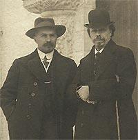 Mikhail Nesterov and Alexei Shchusev