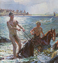 "THE CREATION OF Arkady Plastov's ""Bathing the Horses"". MARKING THE 125th ANNIVERSARY OF THE ARTIST'S BIRTH"