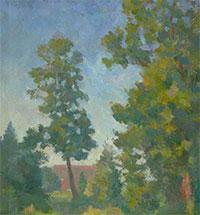 """The treetops reflect the sky"". MEMORIES OF ROBERT FALK"